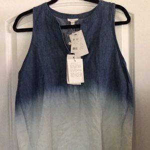 Ladies size large soft brand ombré denim tank top